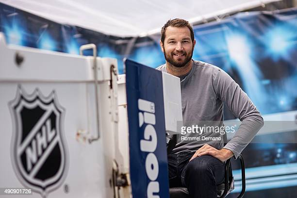 New York Rangers' Star Rick Nash attends FirstEver Playmobil NHL Playsets Debut at NHL Powered by Reebok Store on October 1 2015 in New York City