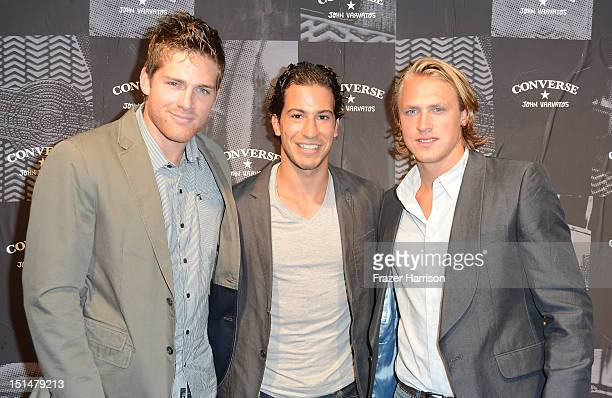 New York Rangers Stu Bickel Michael Del Zotto and Carl Hagelin attend The Converse by John Varvatos Weapon Launch Event during New York Fashion Week...