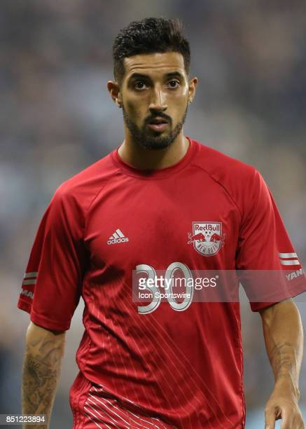 New York Red Bulls midfielder Gonzalo Veron before the Lamar Hunt US Open Cup final between the New York Red Bulls and Sporting Kansas City on...