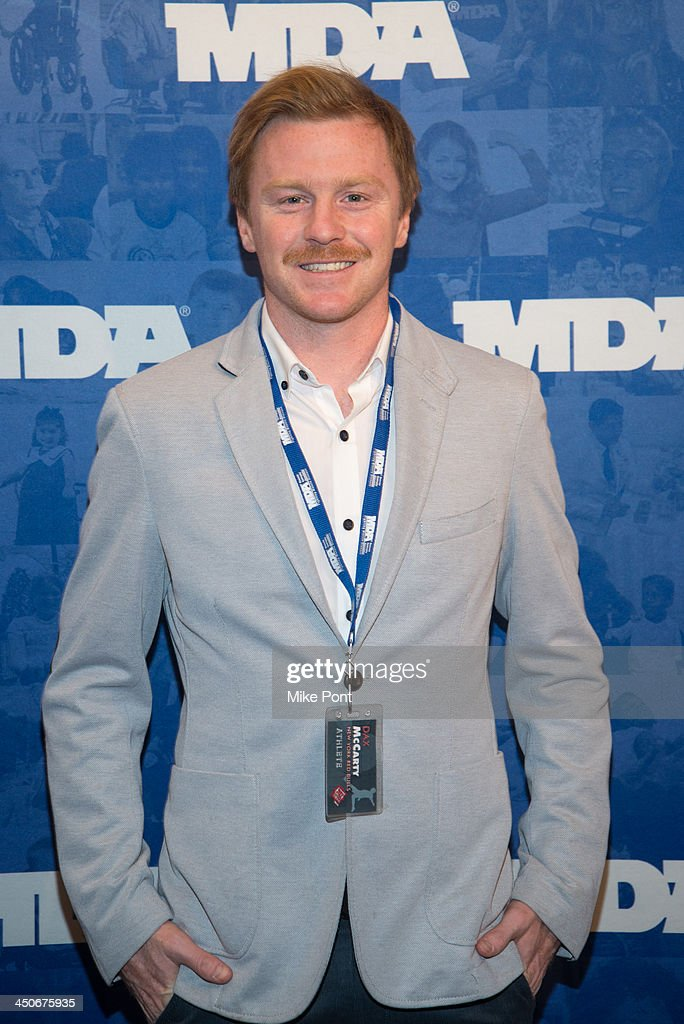 New York Red Bulls player <a gi-track='captionPersonalityLinkClicked' href=/galleries/search?phrase=Dax+McCarty&family=editorial&specificpeople=4233641 ng-click='$event.stopPropagation()'>Dax McCarty</a> attends MDA's 17th Annual Muscle Team Benefit and Gala at The Lighthouse at Chelsea Piers on November 19, 2013 in New York City.