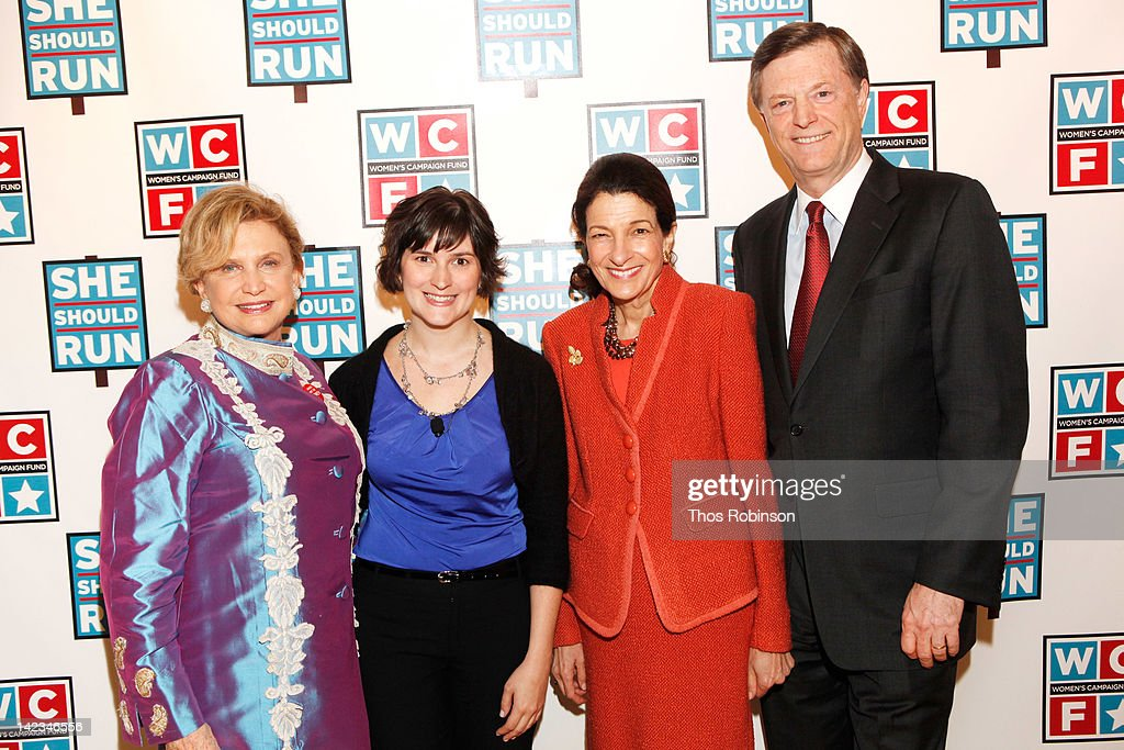 New York Representative Carolyn Maloney, activist Sandra Fluke, senator Olympia Snowe, and former Maine Governor John McKernan attend the 32nd Annual Women's Campaign Fund Parties of Your Choice Gala at Christie's on April 2, 2012 in New York City.