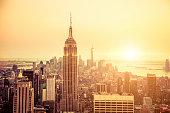 New York skyline to Midtown and Lower Manhattan