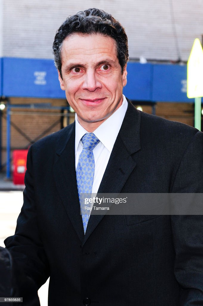 New York State Attorney General Andrew Cuomo leaves the Loews Regency Hotel on March 18 2010 in New York City