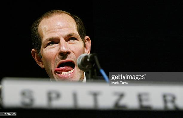 New York State Attorney General Eliot Spitzer speaks at the Japan Society December 3 2003 in New York City Spitzer discussed corporate governance...