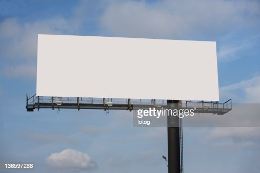 USA, New York State, Blank billboard