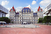 New York State Capitol in Albany, New York state capital, USA.