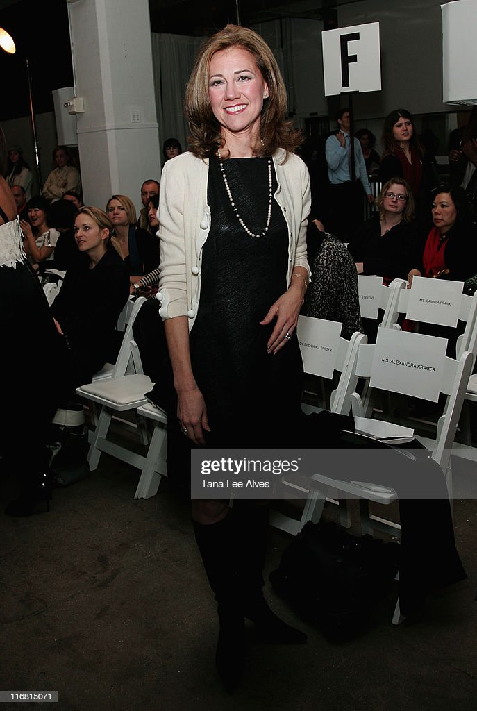 New York State First Lady Silda Wall Spitzer attends Behnaz Sarafpour Fall 2008 during MercedesBenz Fashion Week at Exit Art February 5 2008 in New...