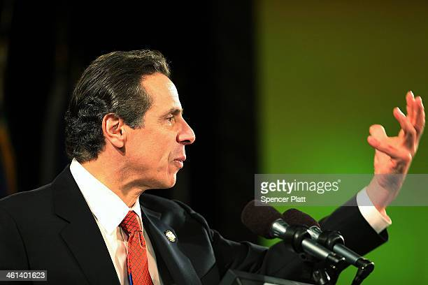 New York State Governor Andrew Cuomo gives his fourth State of the State address on January 8 2014 in Albany New York Among other issues touched on...