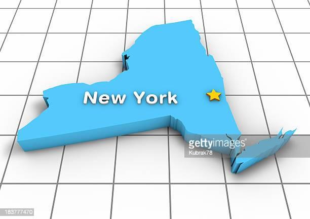 Karte 3D-New York State