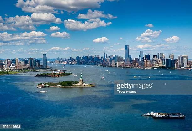USA, New York State, New York City, Aerial view of Manhattan