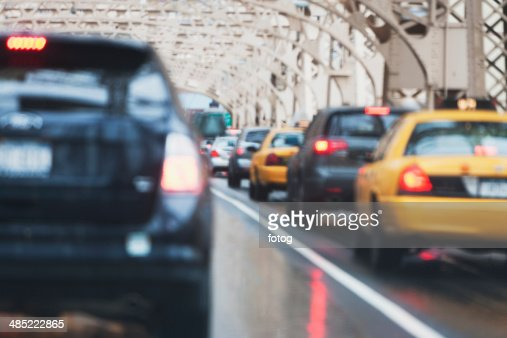 USA, New York State, New York City, Cars in traffic jam