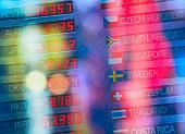 USA, New York State, New York City, Digital trading board