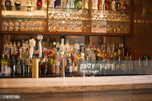 USA, New York State, New York City, Empty bar