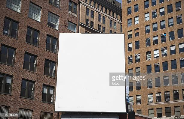 USA, New York State, New York City, Empty billboard