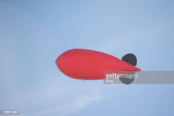 USA, New York State, New York City, Flying advertising blimp