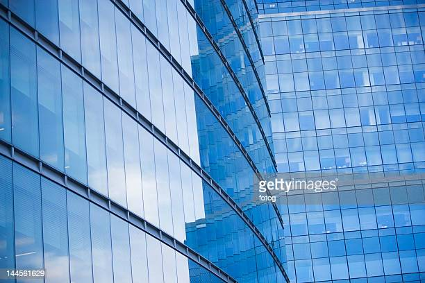 USA, New York state, New York city, low angle view of office buildings