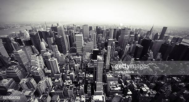USA, New York State, New York City, Manhattan, Aerial view of cityscape