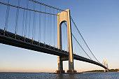 USA, New York State, New York City, Manhattan, Verrazano-Narrows Bridge