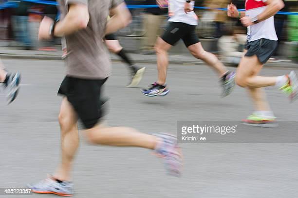 USA, New York State, New York City, Marathon runners in action