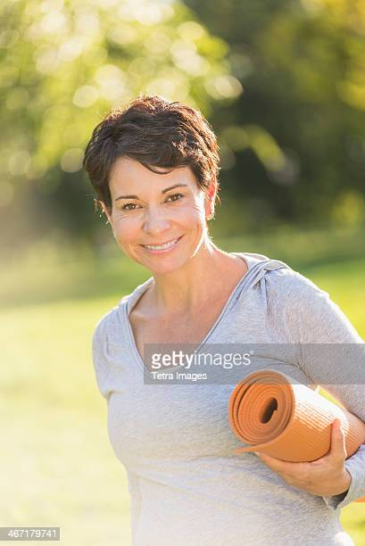 Yoga Mature Women Stock Photos And Pictures Getty Images