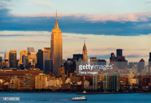 USA, New York State, New York City, Skyline with Empire State Building : Stock Photo