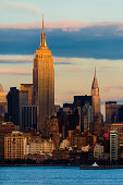 USA, New York State, New York City, Skyline with Empire State Building