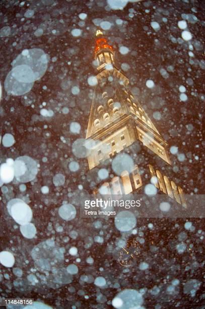 USA, New York State, New York City, snow storm