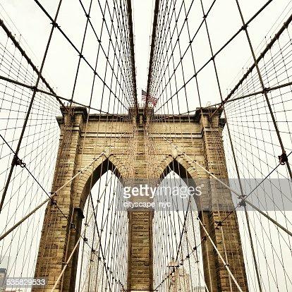 USA, New York State, New York City, View of Brooklyn Bridge