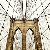 USA, New York State, New York City, View of Brooklyn Bridge