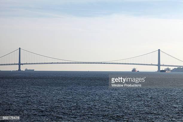 USA, New York State, New York City, View of Verrazano-Narrows Bridge