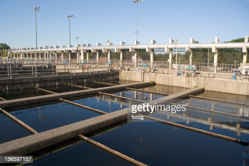 USA, New York State, New York City, Water treatment plant