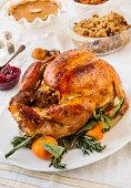 USA, New York State, Roast turkey