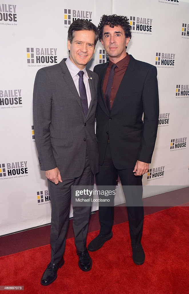 New York State Senator Brad Hoylman (L) and husband David Sigal attend the Bailey House's 2014 Gala & Auction at Pier 60 on March 27, 2014 in New York City.