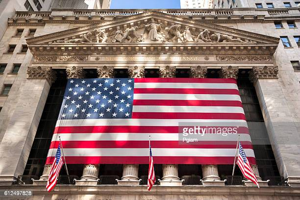 New York stock exchange, Wall Street, USA