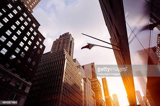 New York street の夕日