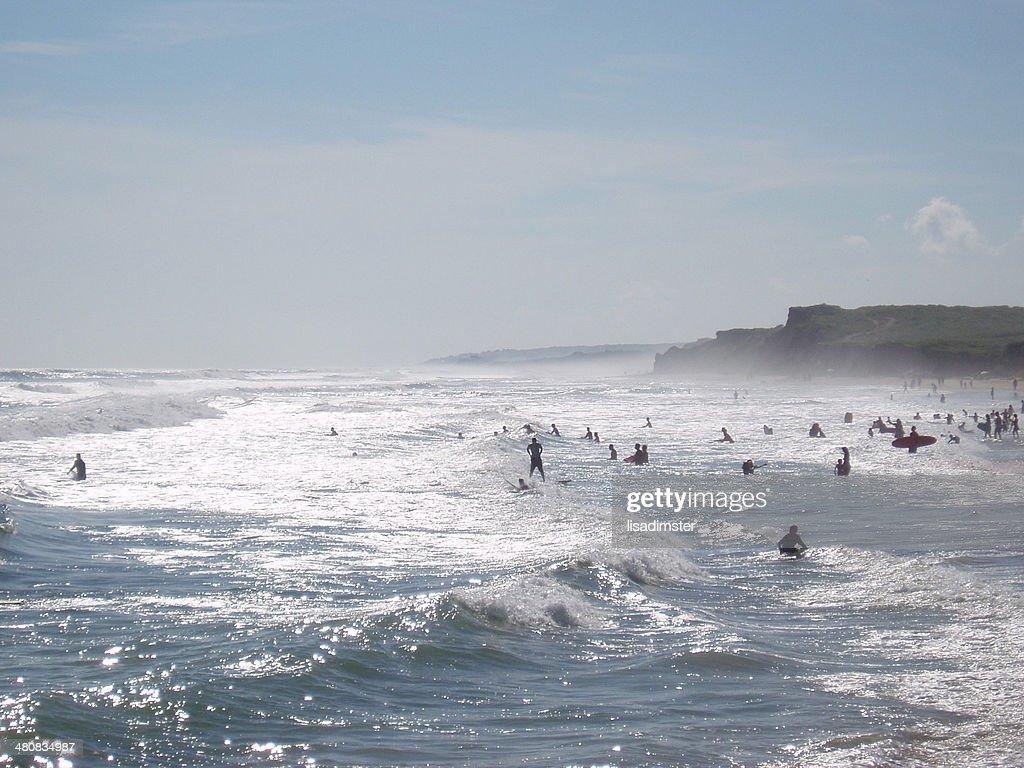 USA, New York, Suffolk County, Montauk Ditch Plains beach in summer