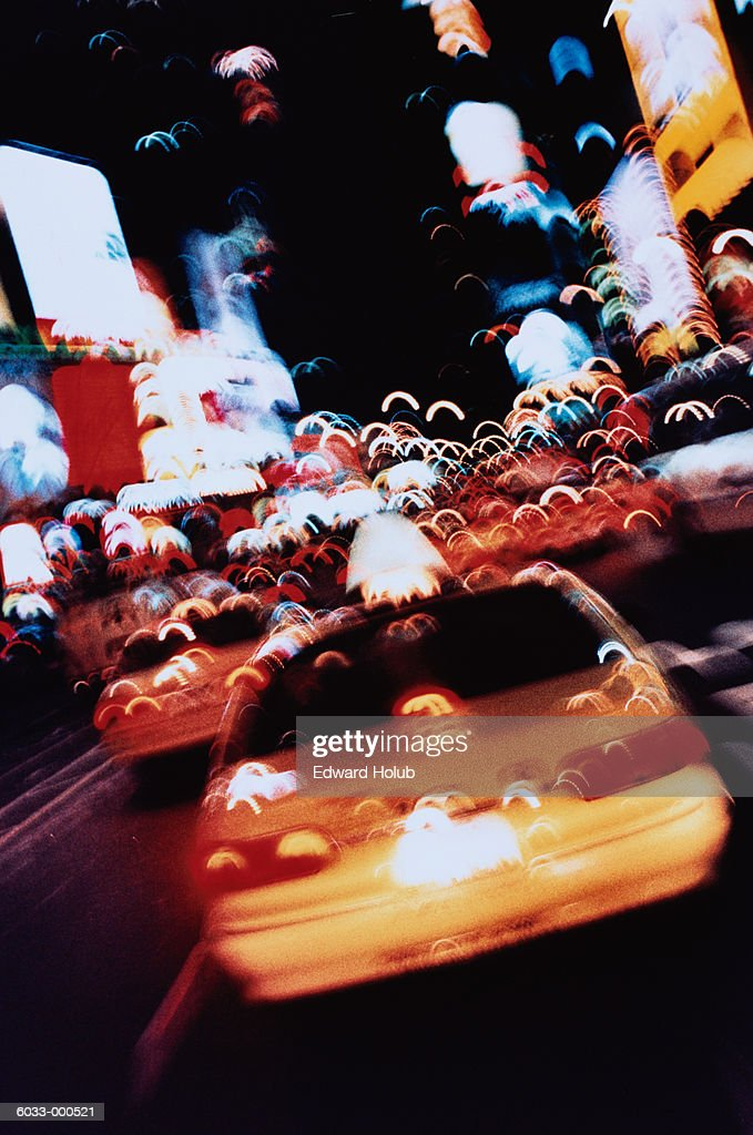 New York Taxicabs on Street : Stock Photo