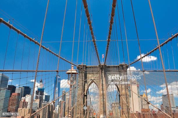 USA, New York, the Brooklyn bridge
