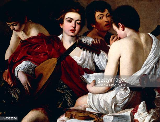 New York The Metropolitan Museum Of Art The Concert of Youths ca 1595 Michelangelo Merisi known as Caravaggio Oil on canvas 879 1159 cm