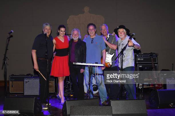 New York Times Carl Hulse and The Native Makers Carl Hulse Mikayla Bouchard Chuck Leavell Paul Woodhull John Curran and Pat Burns rehearse onstage...