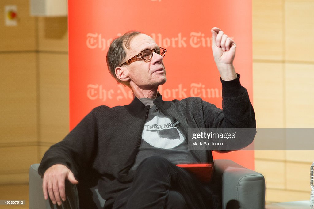 New York Times Columnist David Carr attends the TimesTalks at The New School on February 12 2015 in New York City
