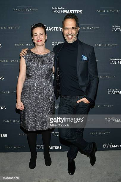 New York Times dining reporter Julia Moskin and chef Yotam Ottolenghi attend The New York Times TasteMasters presented by Park Hyatt on October 19...