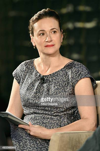 New York Times dining reporter Julia Moskin speaks onstage at The New York Times TasteMasters presented by Park Hyatt on October 19 2015 in New York...