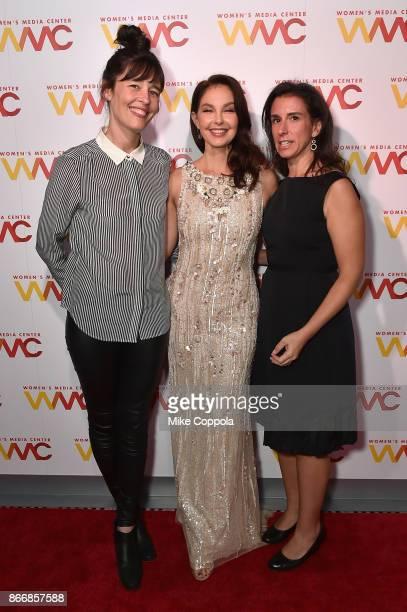 New York Times journalist Megan Twohey actress Ashley Judd and New York Times journalist Jodi Kantor attend the Women's Media Center 2017 Women's...
