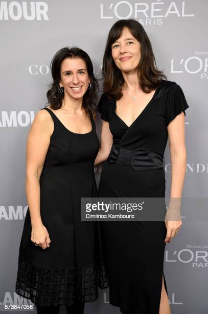 New York Times journalists Jodi Kantor and Megan Twohey pose backstage at Glamour's 2017 Women of The Year Awards at Kings Theatre on November 13...