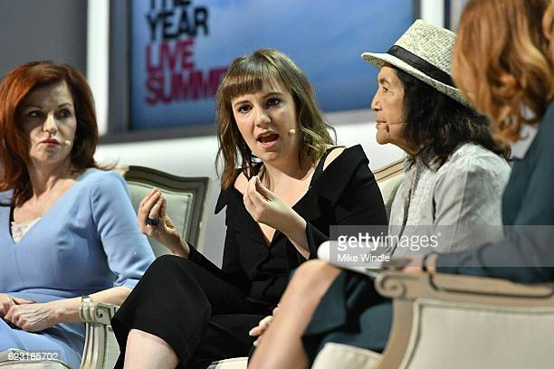 New York Times OpEd Columnist Maureen Dowd Actress Lena Dunham Labor Leader and Civil Rights Activist Dolores Huerta and Marketplace Weekend Host...