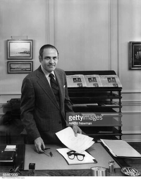 New York Times publisher Arthur Sulzberger poses for portrait in his office August 25 1976 in New York City