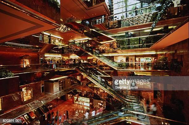 USA, New York, Trump Tower, interior of the atrium