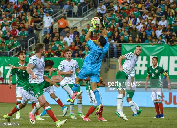 New York United States 1 June 2017 Shane Duffy and Daryl Murphy of Republic of Ireland in action against Rodolfo Cota of Mexico during the...
