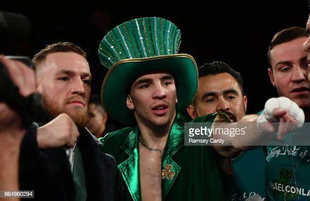New York United States 17 March 2017 Michael Conlan after defeating Tim Ibarra in their featherweight bout at The Theater in Madison Square Garden in...